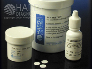 Pyr Test Kit And Pyr Reagent For The Identification Of